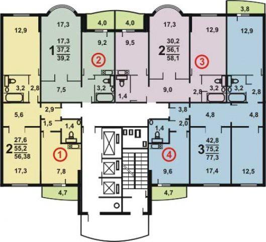 Пример планировок квартир в доме с индивидуальным проектом
